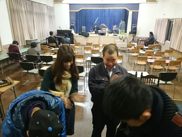 旧石田学園でのライヴ